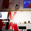 View of the podium of the Vienna +20 Conference © Dragan Tatic